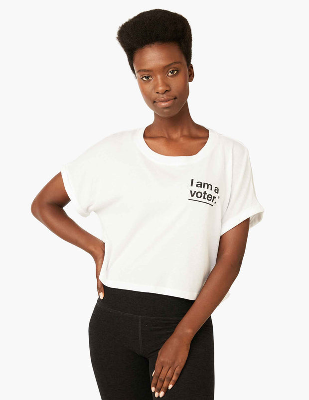 I Am A Voter™ Boxy Cropped Tee