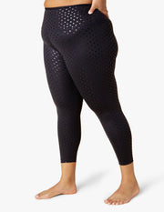 Shiny Hearts High Waisted Midi Legging (1X-4X)
