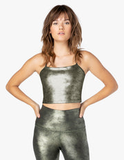 Luxe Leatherette Cropped Tank