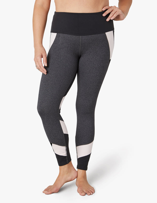 Around The Colorblock High Waisted Midi Legging (1X-3X)