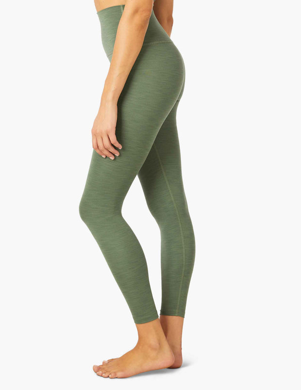 Heather Rib High Waisted Midi Legging