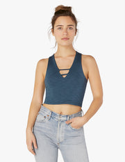 Heather Rib Cropped Tank