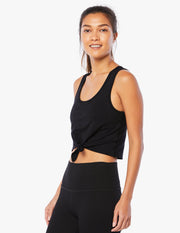 Heather Rib Favorite Lounge Cropped Tank
