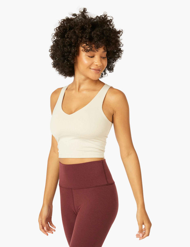 Heather Rib Go To Cropped Tank
