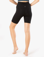 Heather Rib High Waisted Biker Short