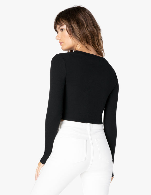 Keep In Line Ribbed Cropped Pullover