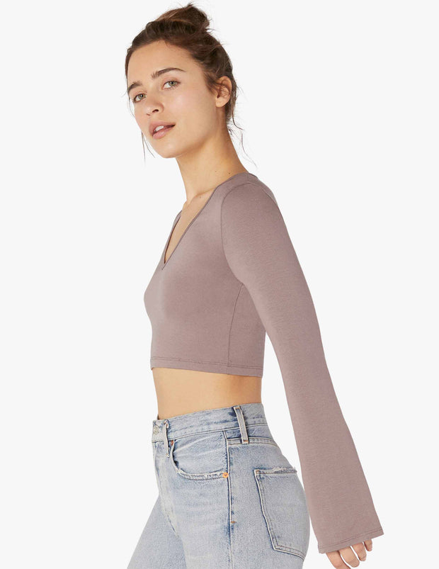 Backstage Cropped Bell Top