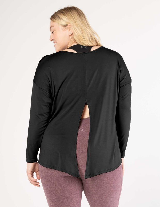 Draw The Line Tie Back Pullover (1X-3X)