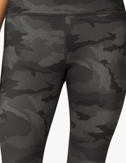 Lux Black Camo High Waisted Midi Legging