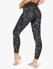 Lux Black Snake High Waisted Midi Legging