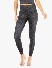 Lux Zebra High Waisted Midi Legging