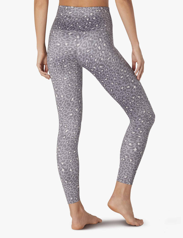 Lux Leopard High Waisted Midi Legging