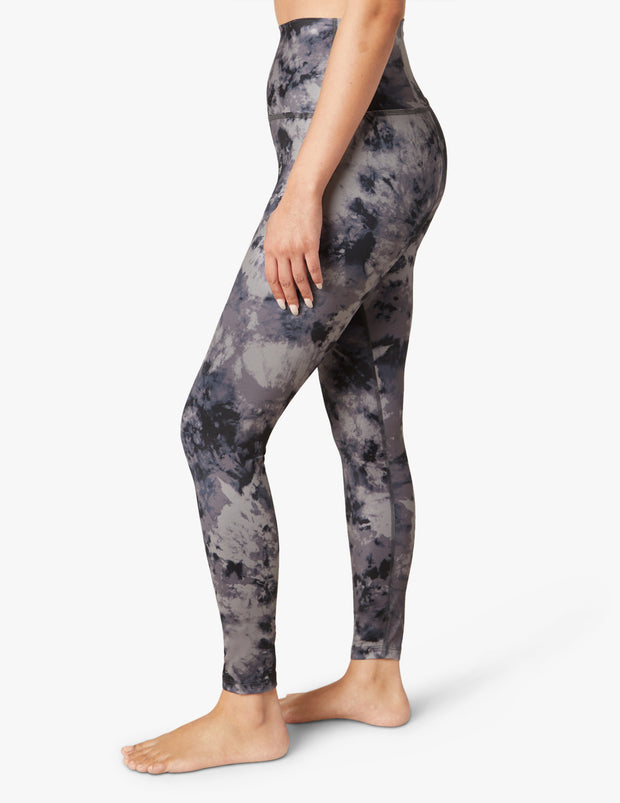 Lux Gray Cosmic High Waisted Midi Legging