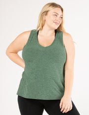 All About It Split Back Tank (1X-3X)