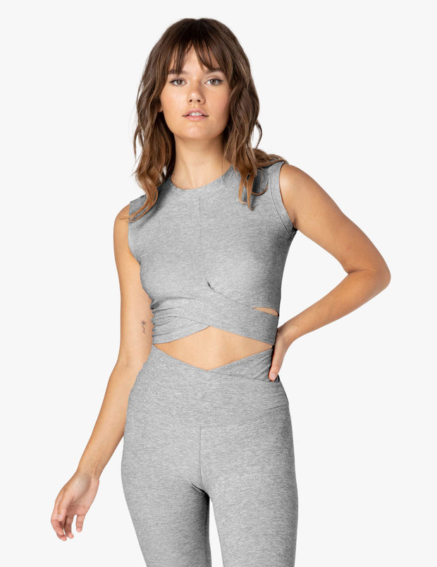Under Over Featherweight Cropped Muscle Tank