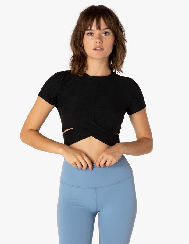 Under Over Featherweight Cropped Tee