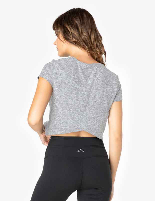 Back Out Cropped Tee