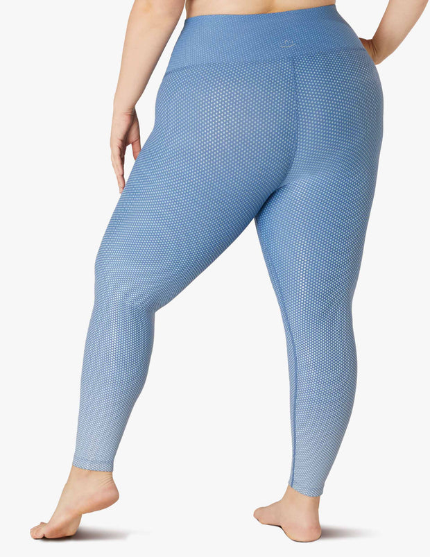 Spot On High Waisted Midi Legging (1X-3X)