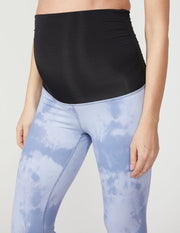 Olympus Blue Smoke High Waisted Maternity Midi Legging