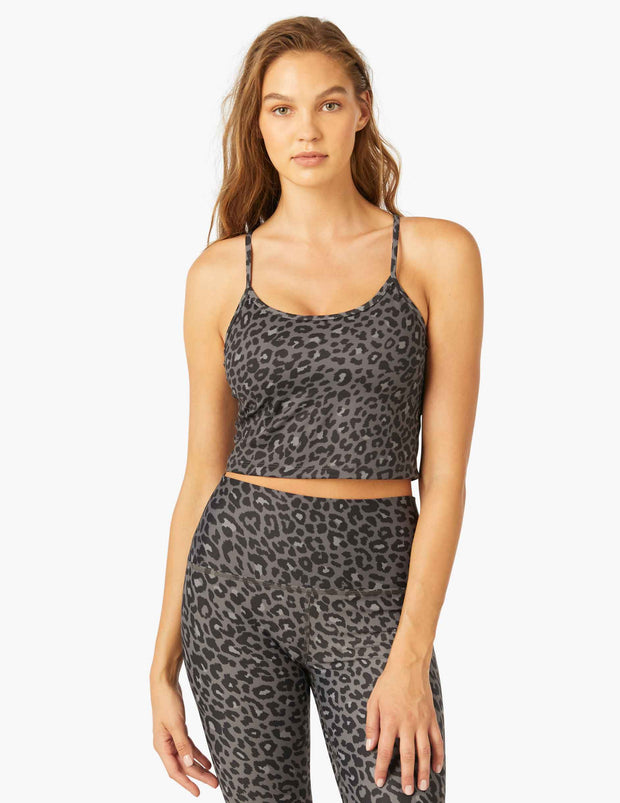 Olympus Leopard Scoop-Neck Cropped Tank