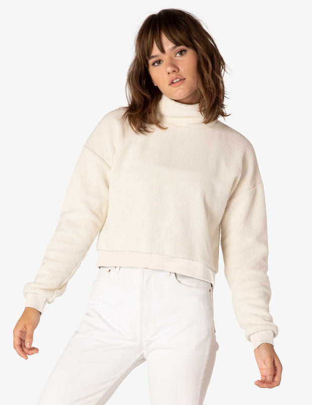BFF Sherpa Cropped Pullover