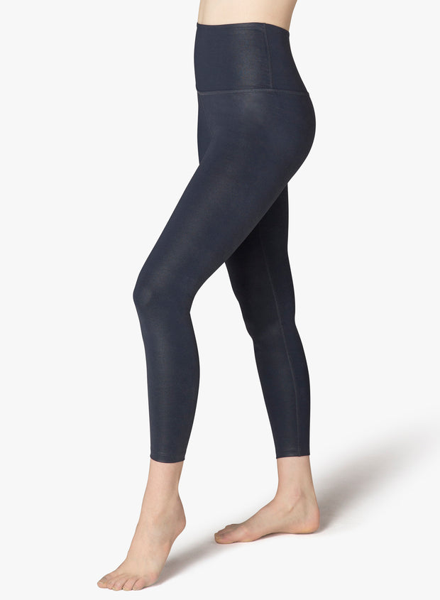 Matte Pearlized High Waisted Midi Legging