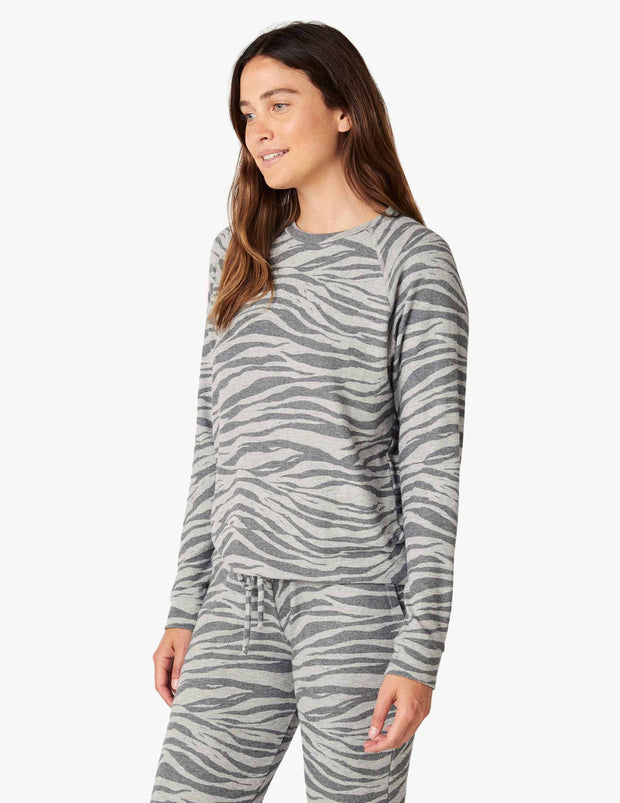Printed Luxe Lounger Tiger Pullover