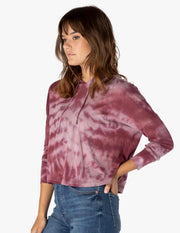 Tie Dye Cropped Pullover
