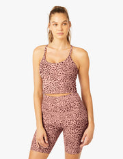 Cheetah Spacedye Slim Racerback Cropped Tank
