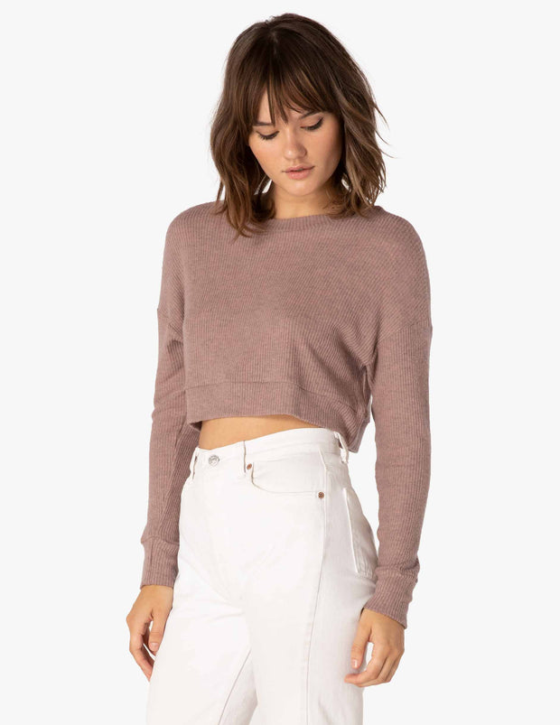 In Line Cropped Pullover