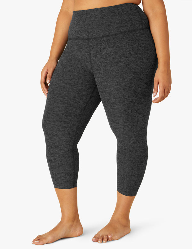 Spacedye Walk and Talk High Waisted Capri Legging (1X-3X)