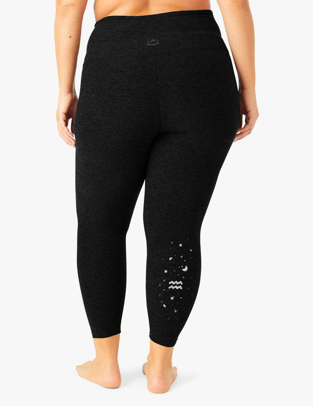 Aquarius Spacedye Caught In The Midi High Waisted Legging (1X-4X)