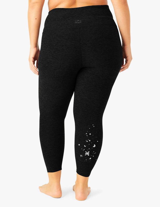 Pisces Spacedye Caught In The Midi High Waisted Legging (1X-4X)