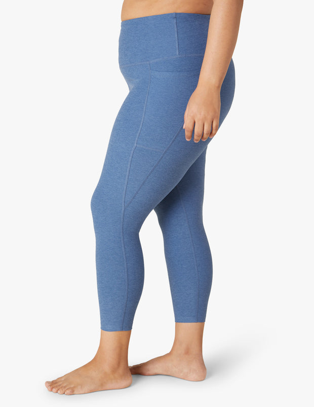 Spacedye Out Of Pocket High Waisted Midi Legging (1X-4X)