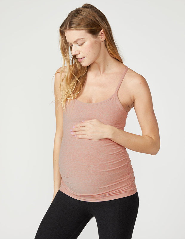 Spacedye Slim Racerback Maternity Tank