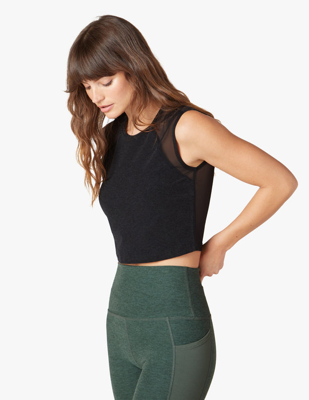 Mesh With It Cropped Tank