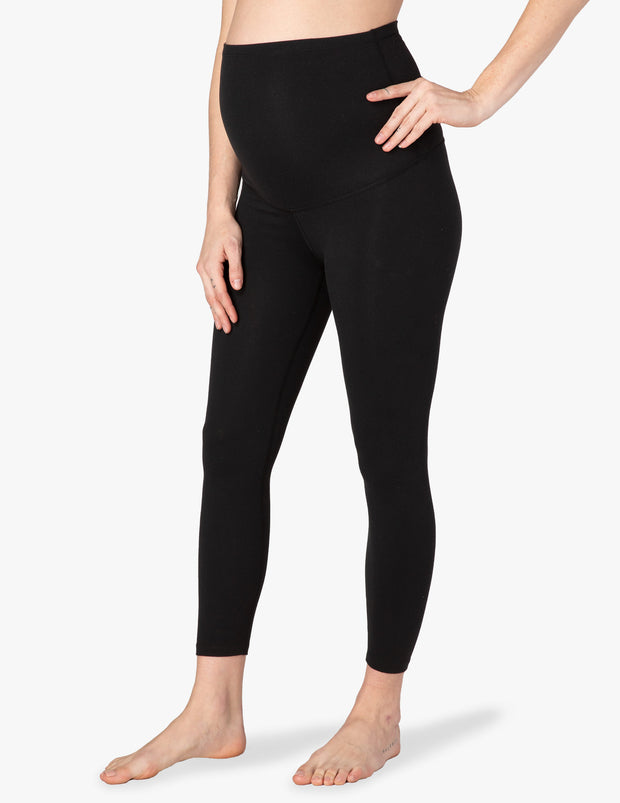 Caught In The Midi High Waisted Maternity Legging