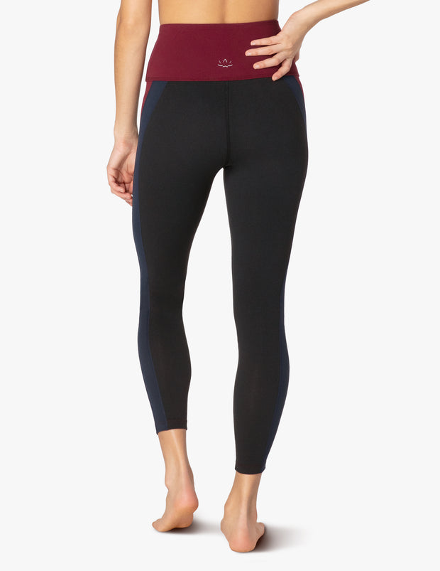 True Colorblock High Waisted Midi Legging
