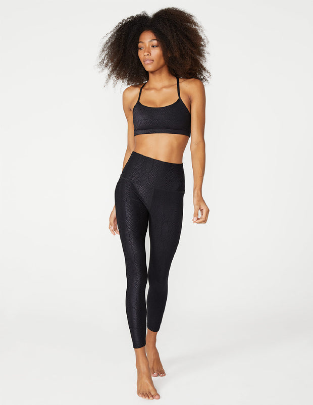 Viper Jacquard High Waisted Midi Legging