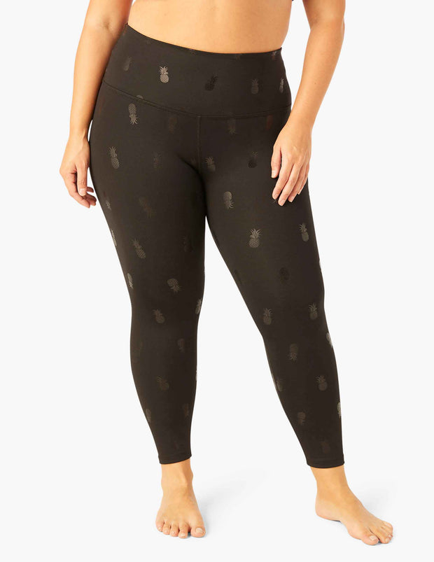 Pineapple High Waisted Midi Legging (1X - 3X)