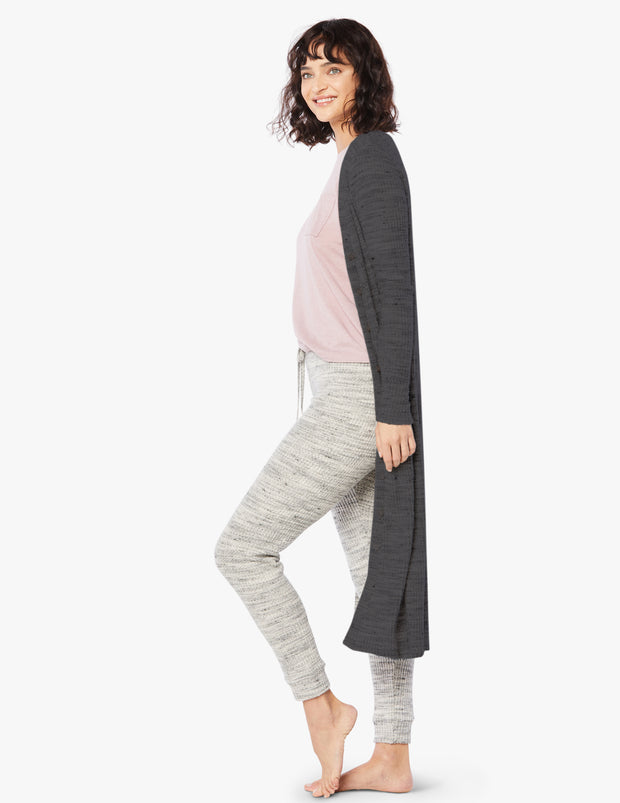 Your Line Waffle Knit Duster