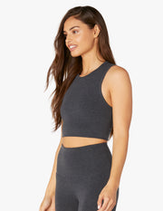 Sanded Top Notch Cropped Tank