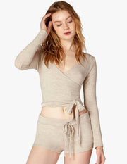 All Around Wrapped Cropped Top