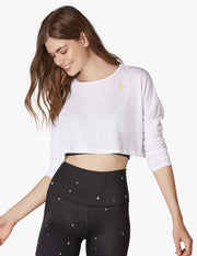 Amanda Kloots Super Cropped Pullover