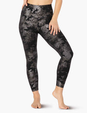 Foil Floral High Waisted Midi Legging