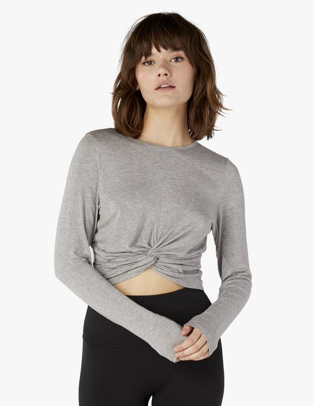 Crossroads Reversible Cropped Pullover