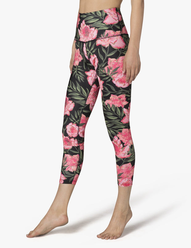 Lux Protea Vine Walk And Talk High Waisted Capri Legging