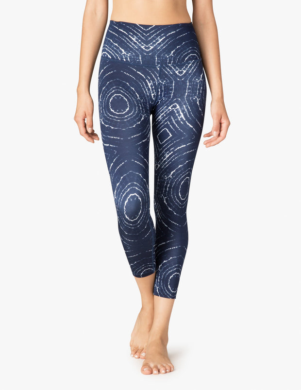 Lux Ripple Effect Walk And Talk High Waisted Capri Legging
