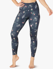Lux Botanical Floral High Waisted Midi Legging