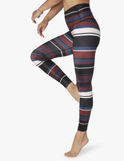 Lux Fallen Stripe High Waisted Midi Legging